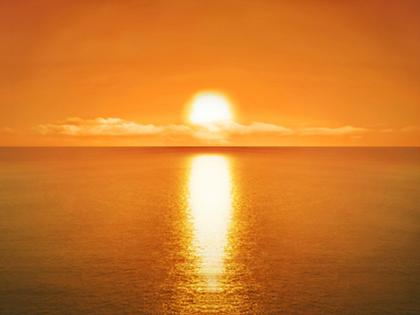 夕陽を見ながら走ろう