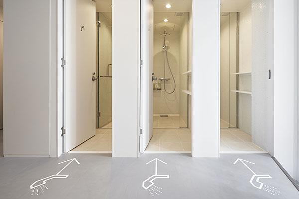 ナインアワーズ大手町のシャワールームの写真